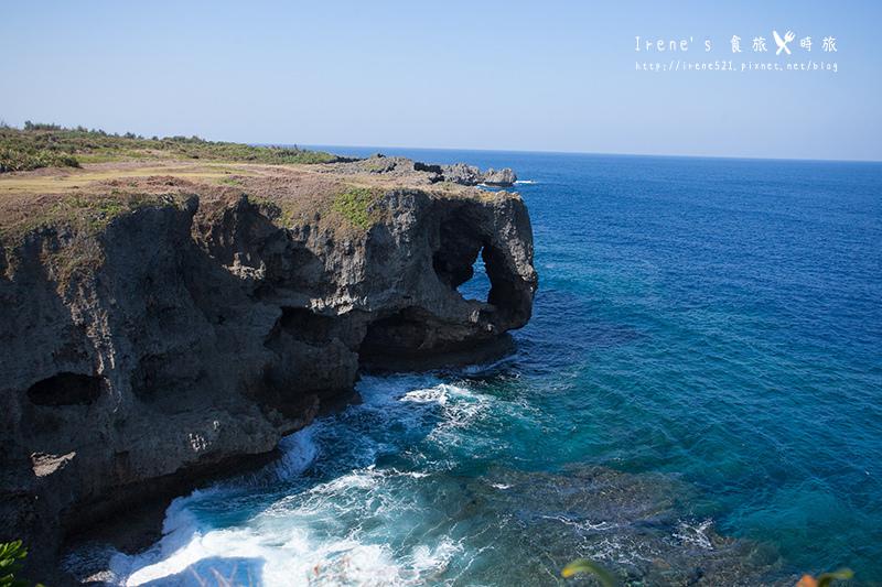 【沖繩-景點】如象鼻的珊瑚礁懸崖,一望無際的美麗大海/沖繩著名景點.萬座毛 @Irene's 食旅.時旅