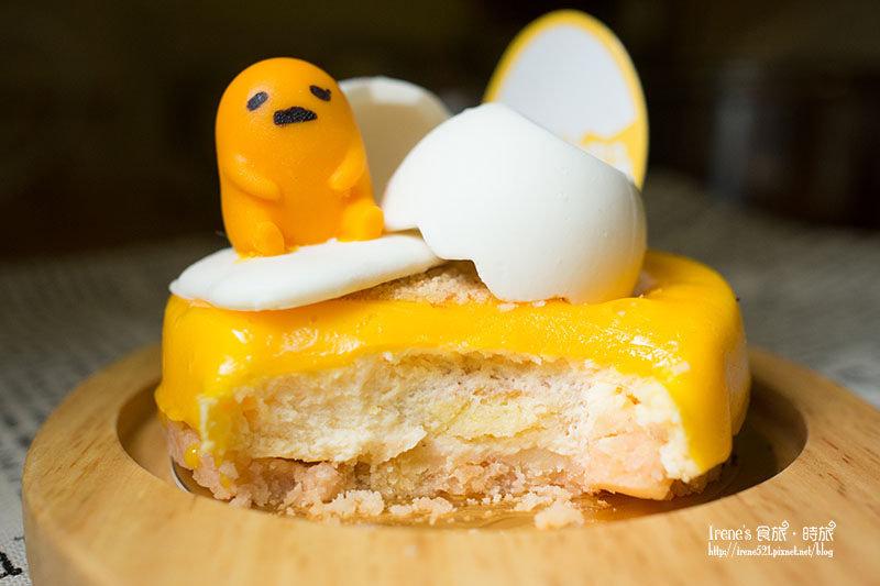 【甜點】快跟我一起耍懶吧!蛋黃哥造型蛋糕限量上市.85度C