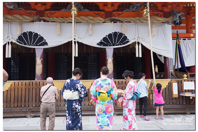【京都-景點】香火很旺的八坂神社,幸運欣賞到壯觀的「祇園前祭 神輿洗式」 @Irene's 食旅.時旅