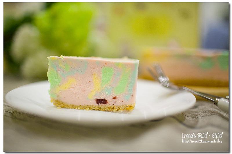【宅配美食】讓心情為之飛揚的輕柔/粉嫩嫩的彩虹蛋糕/諾亞半熟蛋糕專門店.好咖彩虹生乳酪 @Irene's 食旅.時旅