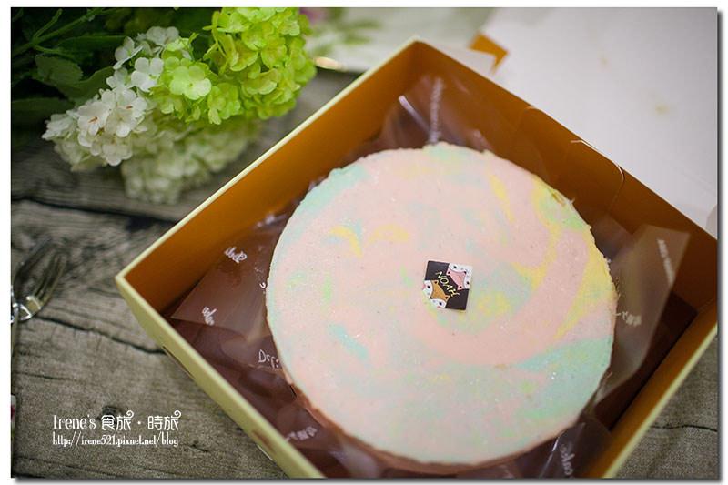 【宅配美食】讓心情為之飛揚的輕柔/粉嫩嫩的彩虹蛋糕/諾亞半熟蛋糕專門店.好咖彩虹生乳酪