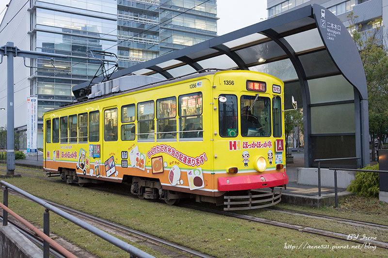 【九州熊本】搭著可愛多變的路面電車橫行熊本市.熊本路面電車 @Irene's 食旅.時旅