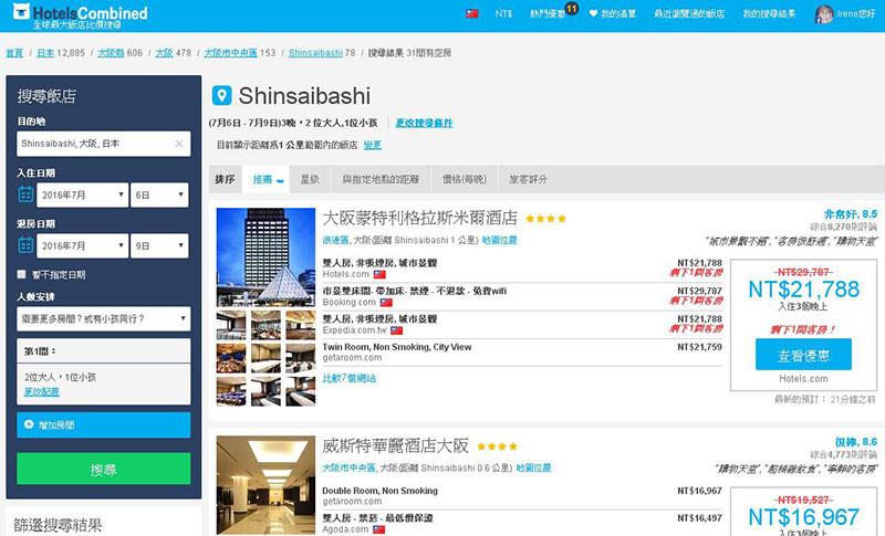 【分享】實用的飯店比價網站,省時又省錢.HotelsCombined @Irene's 食旅.時旅