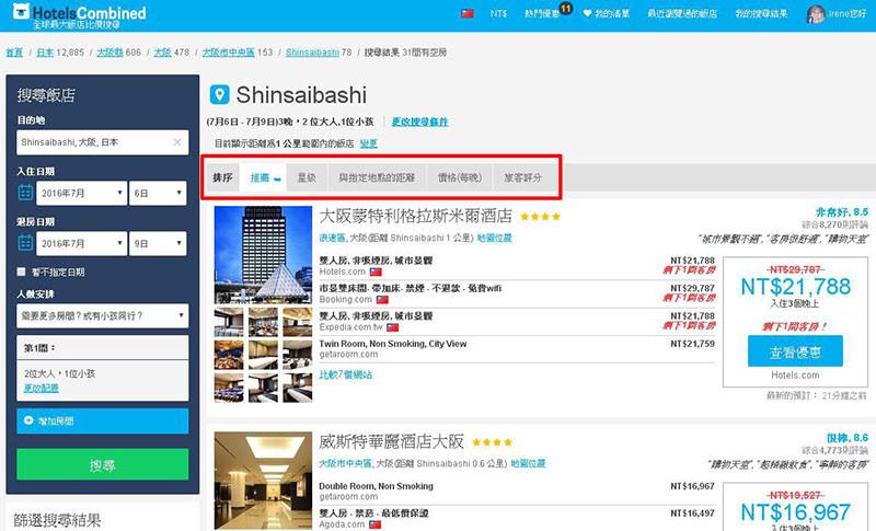 【分享】實用的飯店比價網站,省時又省錢.HotelsCombined