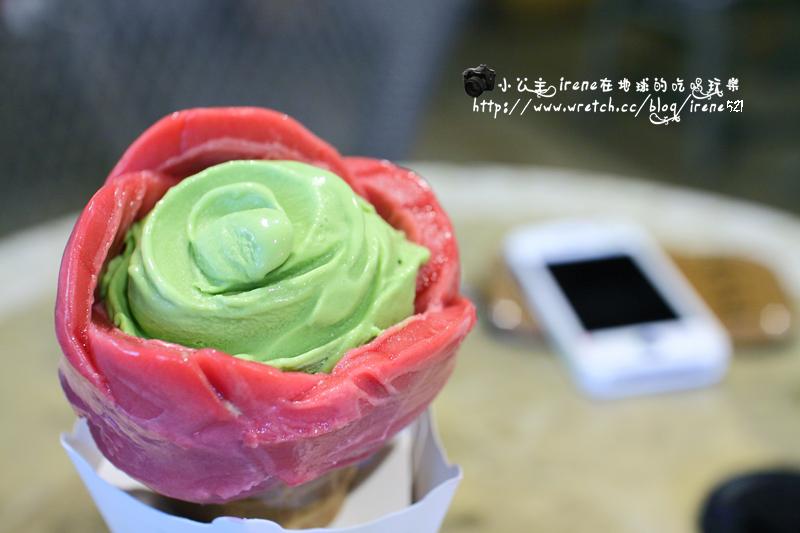 【台北市士林區】像玫瑰花綻放的甜筒.美國冰淇淋文化館 @Irene's 食旅.時旅