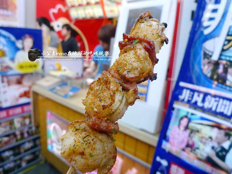 【台北士林區】士林夜市.歐咪呀給干貝燒+真口味烤肉 @Irene's 食旅.時旅