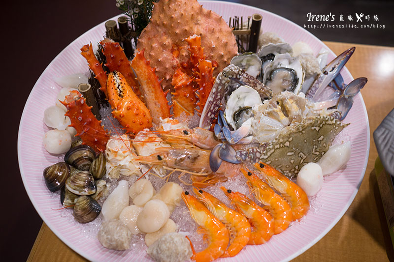 【台北中山區】一份50元的生魚片,一片只要10元!澎拜的帝王蟹海鮮鍋,一個人不用五百.民生健康食堂 @Irene's 食旅.時旅