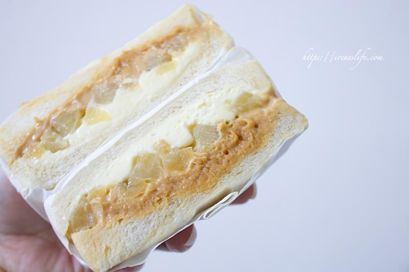 花生蘋果三明治