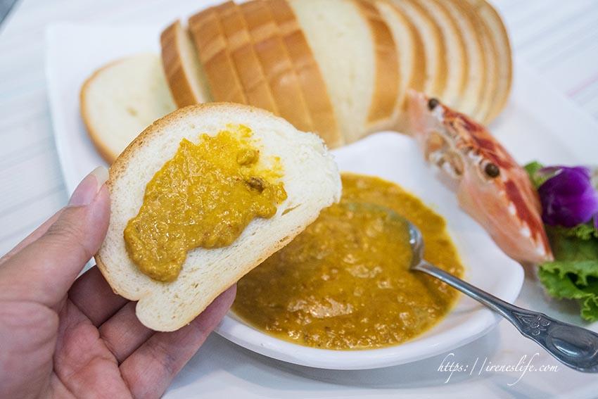 咖哩蟹黃麵包
