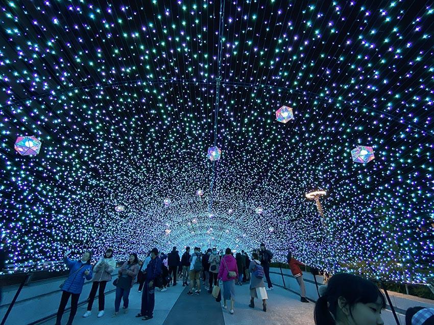 藍色燈海隧道