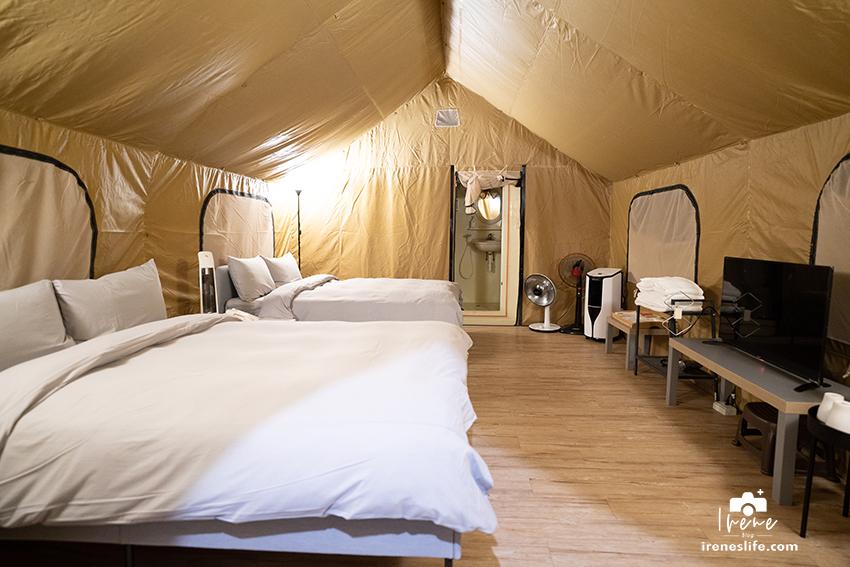 【露營】埔心牧場沐綠拾村豪華露營,一泊二食體驗大自然,雙人床、獨立衛浴、冷氣、暖氣全都有
