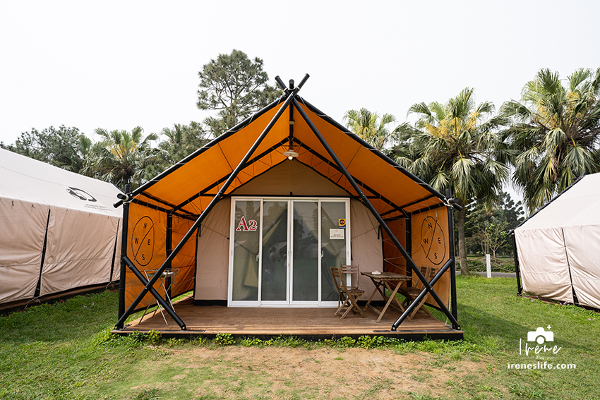 【露營】埔心牧場Glamping豪華露營,一泊二食體驗大自然,雙人床、獨立衛浴、冷氣、暖氣全都有