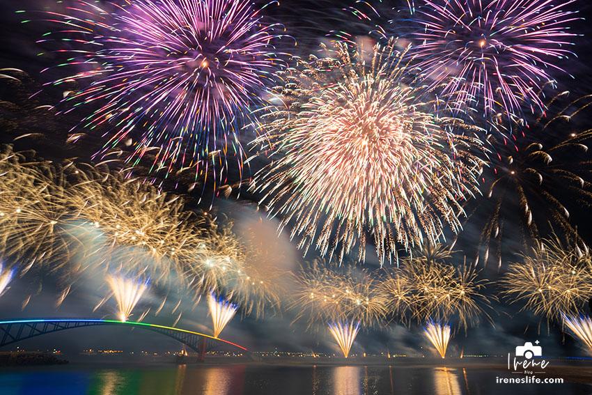 2021澎湖國際海上花火節,LINE熊大兔兔花火、無人機表演,劃亮澎湖的天際和海面